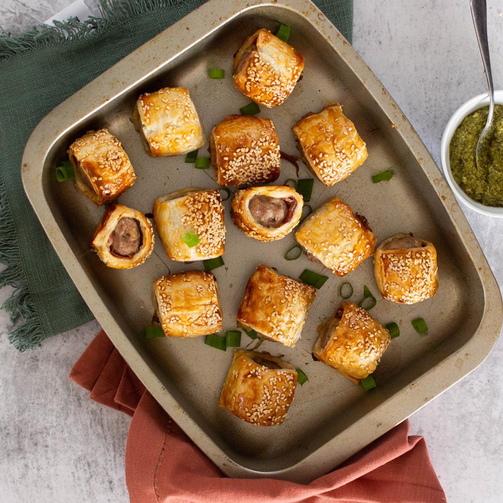 Caramelised Onion Sausage Rolls