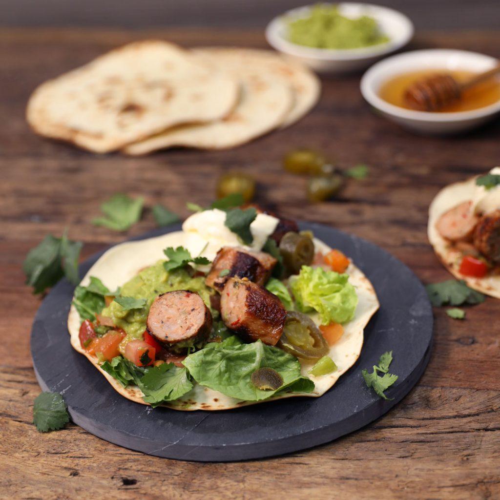 Dan & STEPH's Cheesy Jalapeño Hotlink Tacos
