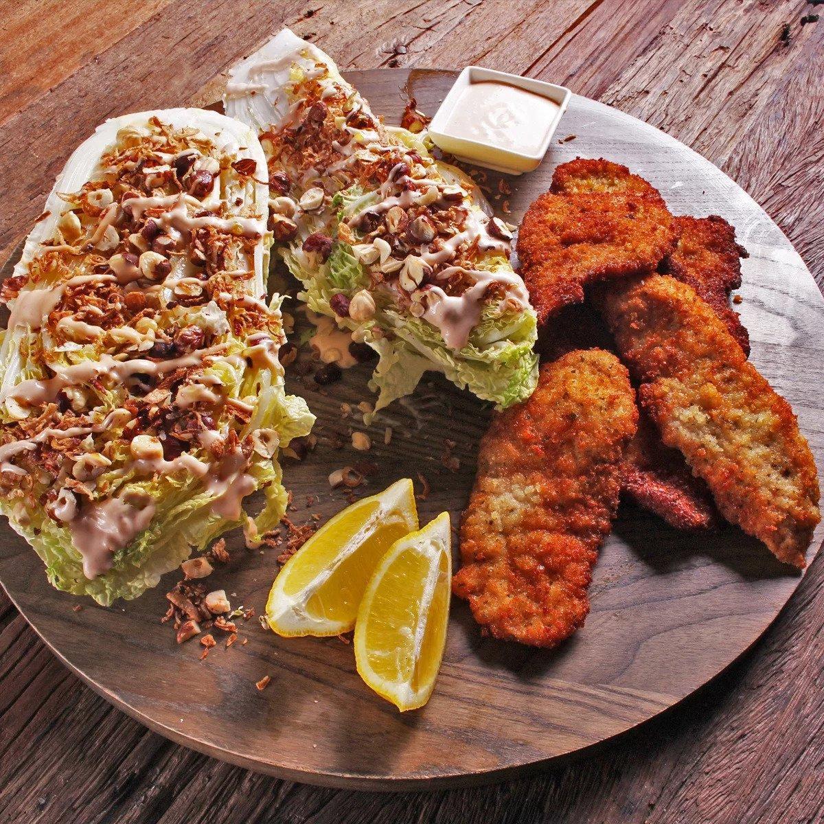 Pork Schnitzel With Wombok Salad