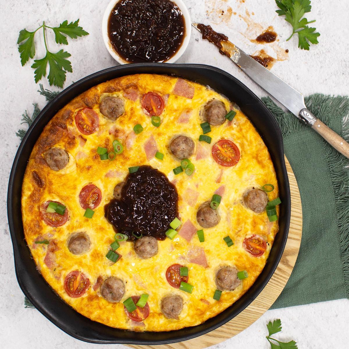 Sicilian Sausage Omlette