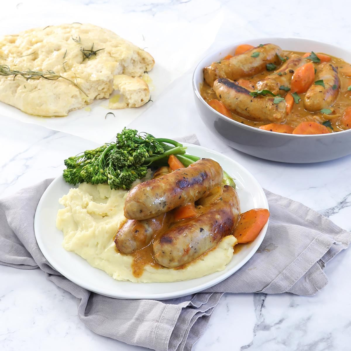 Farmhouse Curried Sausages
