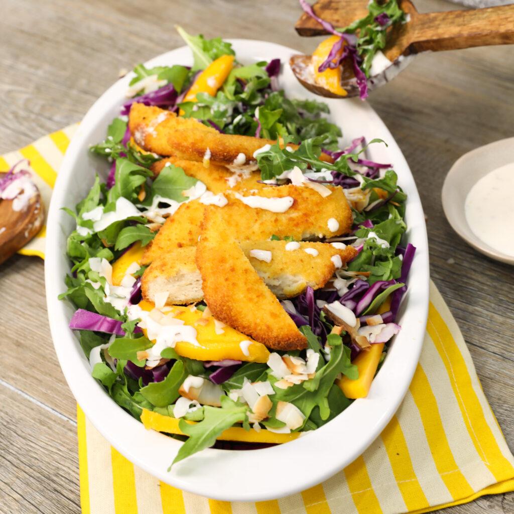 Schnitzel Summer Salad