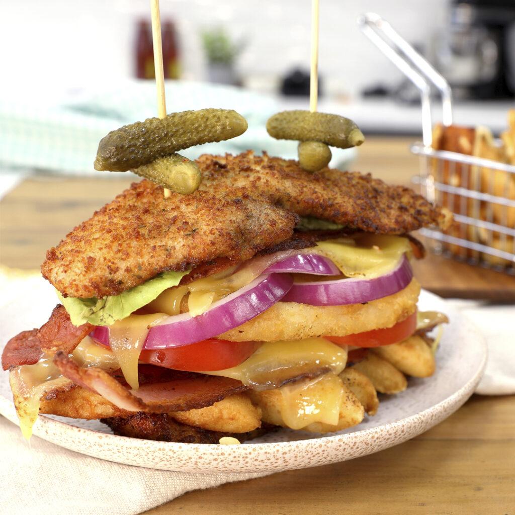 Bun-Less Schnitty Burger