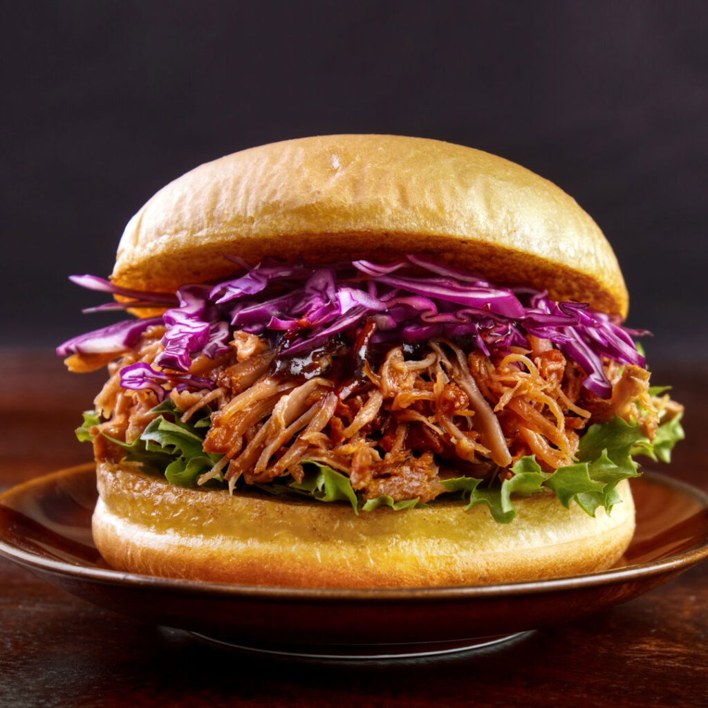 Pulled Pork Burger Summer Slaw