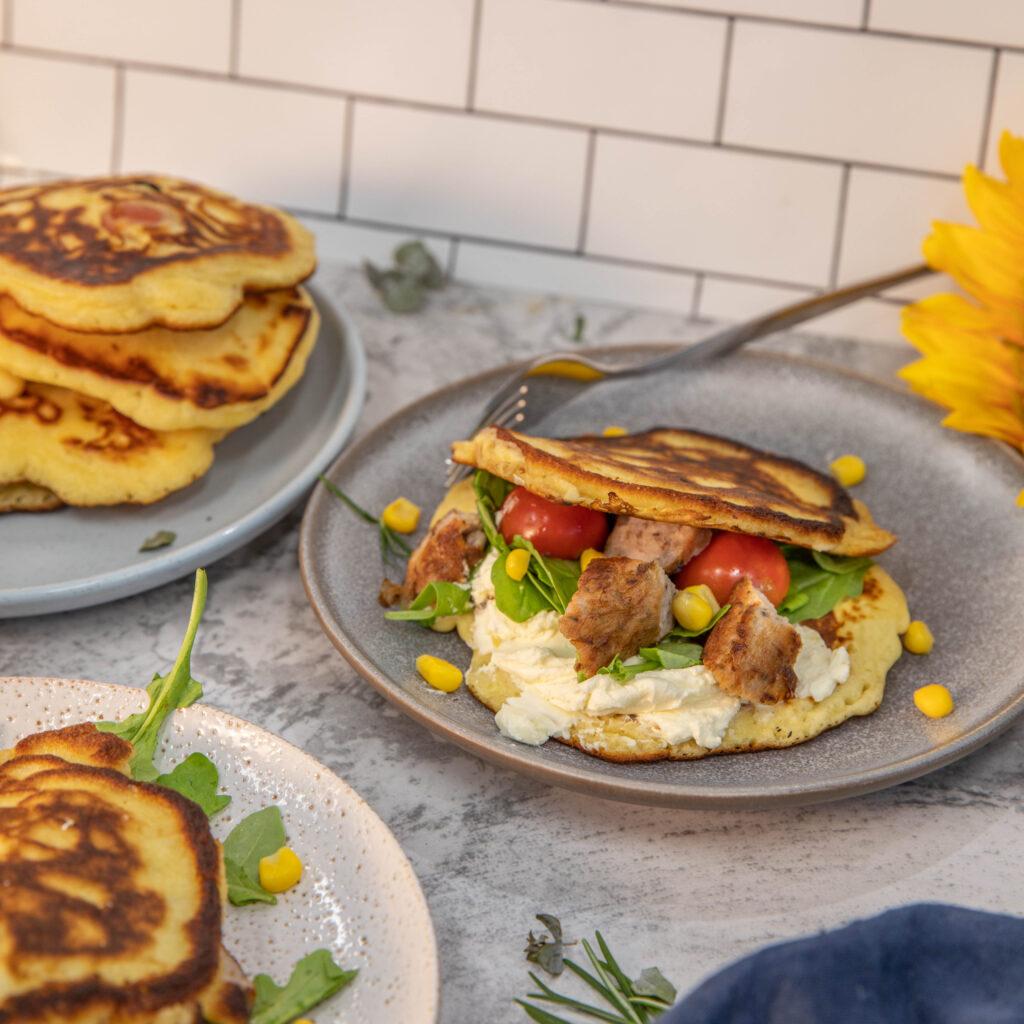 Savoury Breakfast Pork Pancake
