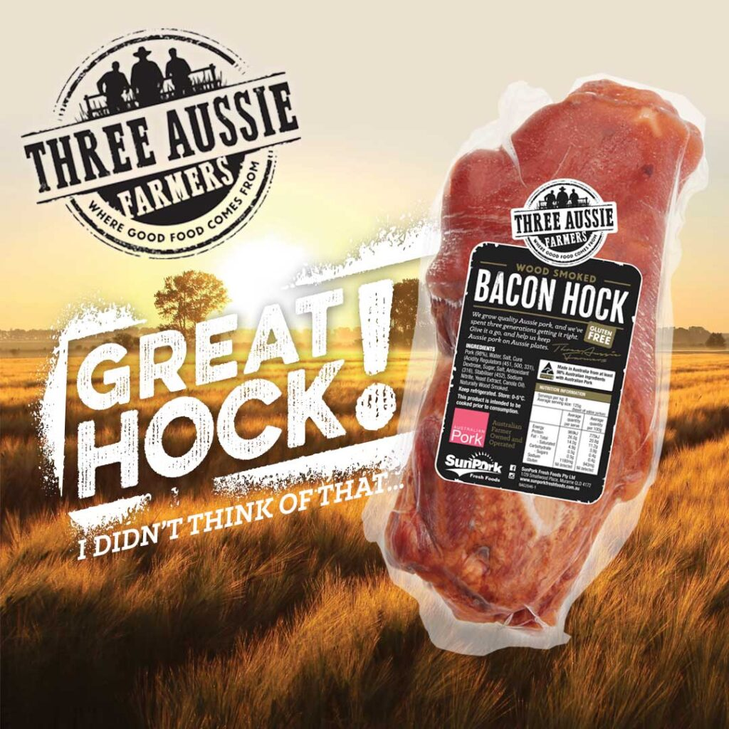 Three Aussie Farmers Bacon Hock Campaign