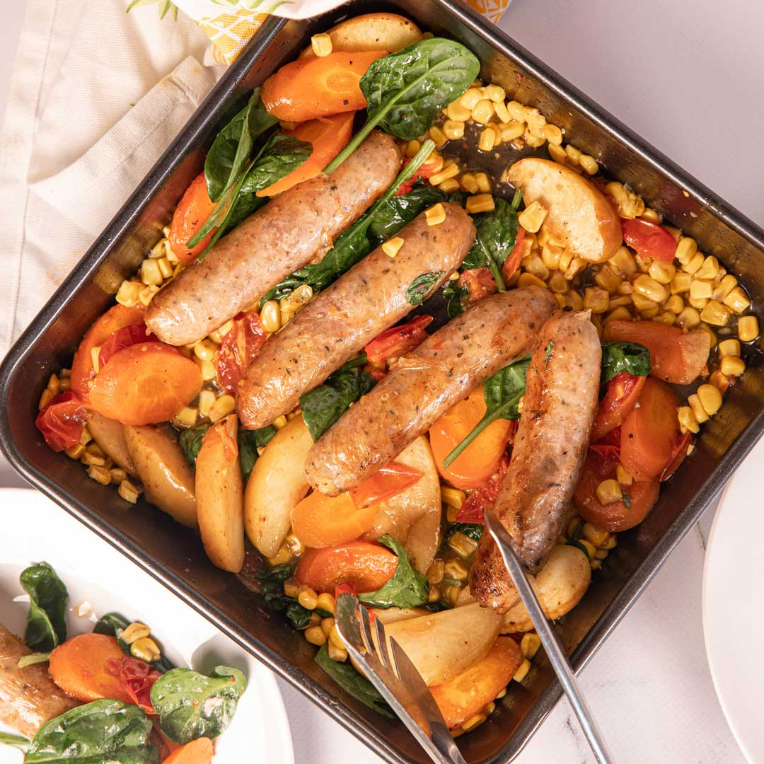 Three Aussie Farmers Sausage Tray Bake