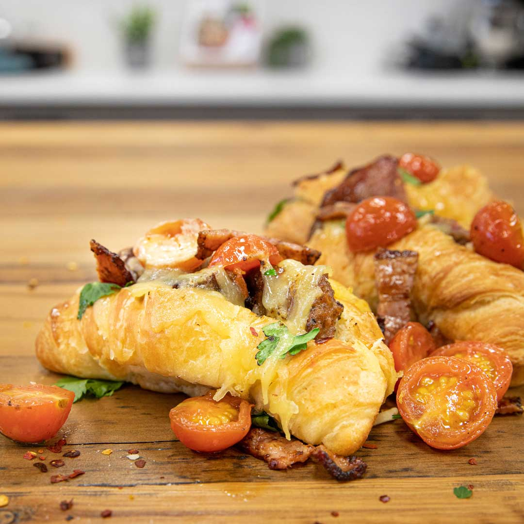 Three Aussie Farmers Spicy Silician Sausage and Cheese Stuffed Croissants
