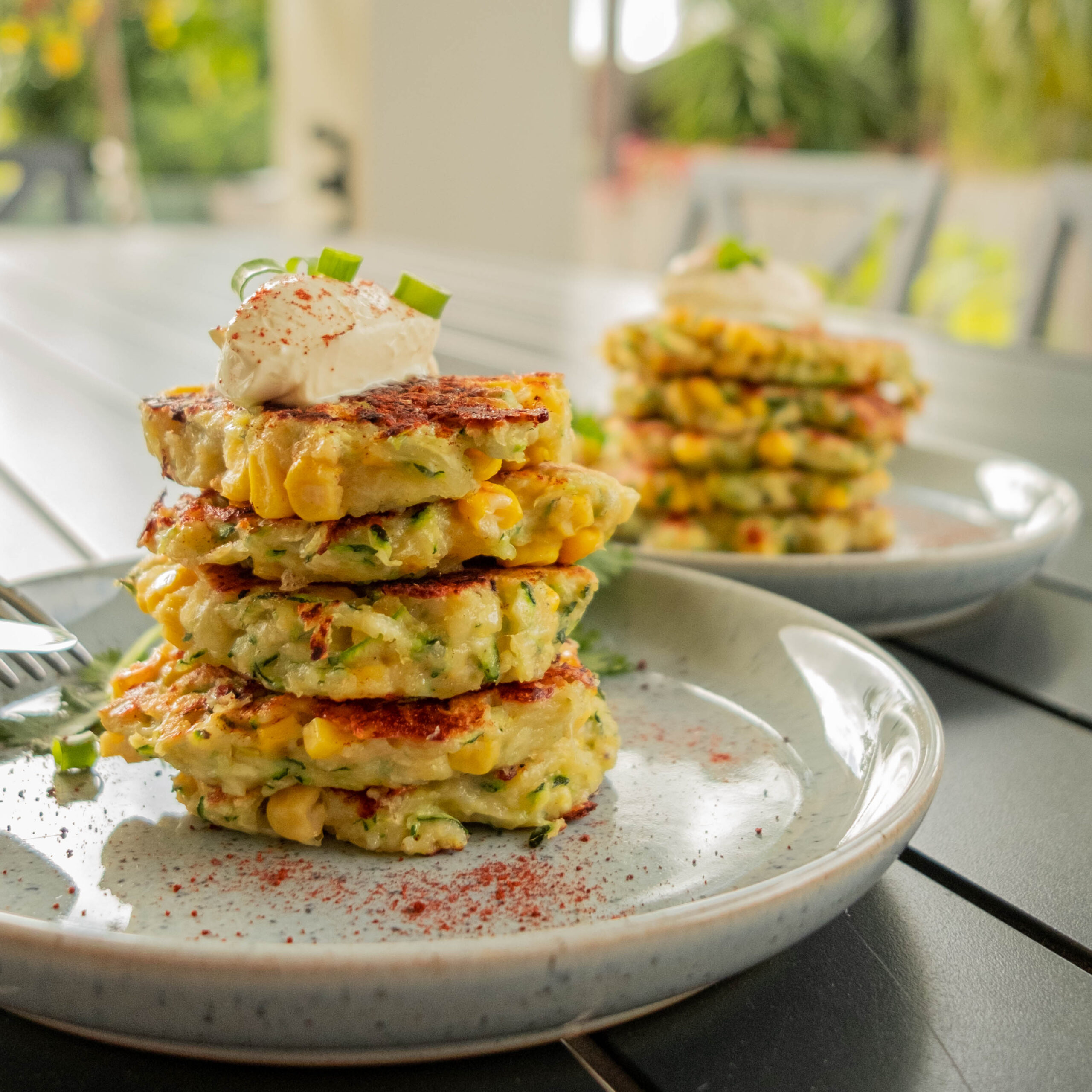 Three Aussie Farmers Pulled Pork Zucchini Corn Fritter