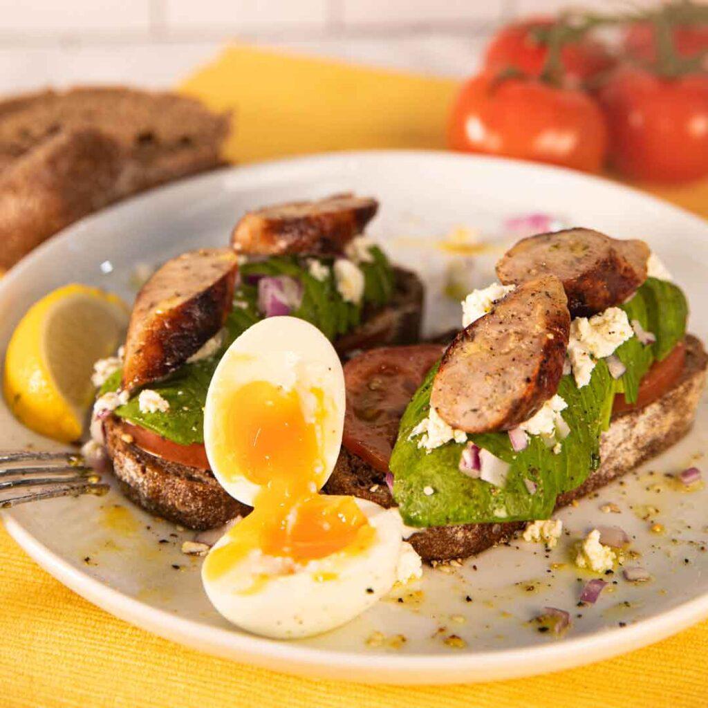 Three Aussie Farmers Breakfast Sausage Toast
