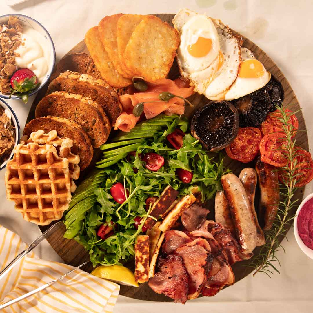 Three Aussie Farmers Ultimate Fathers Day Breakfast Platter